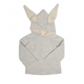 CARDIGAN A CAPUCHE LAPIN