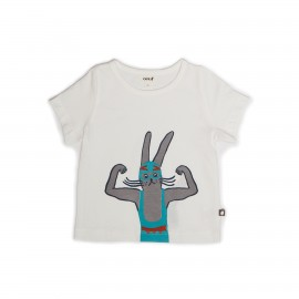 TEE-SHIRT HOT DOG BLANC ET MULTICOLORE