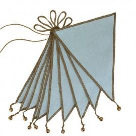 SWEET BLUE FLAG GARLAND
