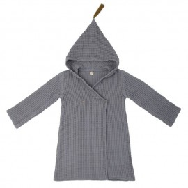PEIGNOIR DE BAIN - STONE GREY- MEDIUM 6 -8 ANS