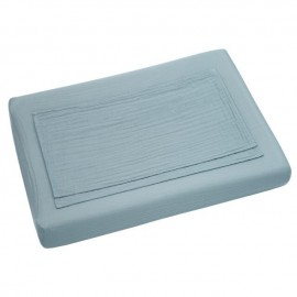 ROUND AND SQUARE ADAPTABLE CHANGING MAT COVER - SWEET BLUE