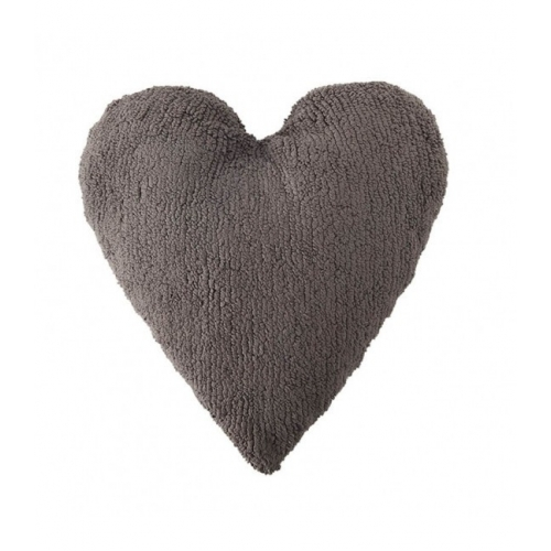 COUSSIN COEUR - GRIS FONCE - LORENA CANALS