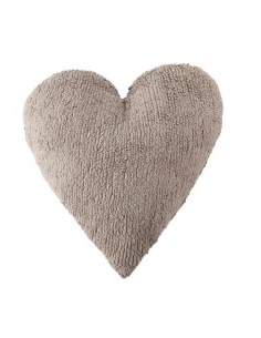 COUSSIN COEUR - TAUPE - LORENA CANALS