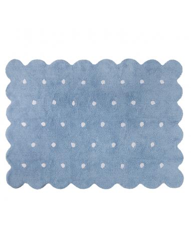 Tapis Biscuit Bleu 120x160
