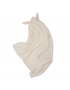 couverture  lapin - baby alpaga blanche - oeuf nyc