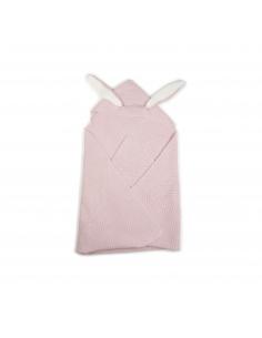 couverture a oreilles de lapin - vieux rose - oeuf nyc