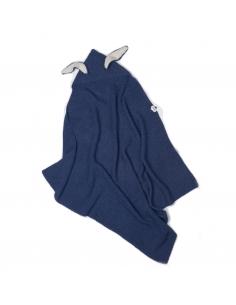 couverture lapin - baby alpaga indigo - oeuf nyc