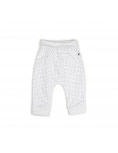 pantalon harem blanc et pois indigo - oeuf nyc