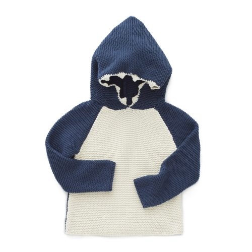 cardigan a capuche - requin - oeuf nyc