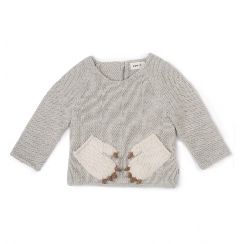 pull à poches animaux  - oeuf nyc