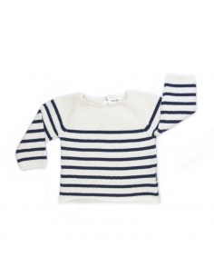 pull mariniere rayures blanches et bleues - oeuf nyc