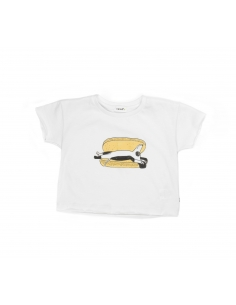 tee-shirt hot dog blanc et multicolore - oeuf nyc