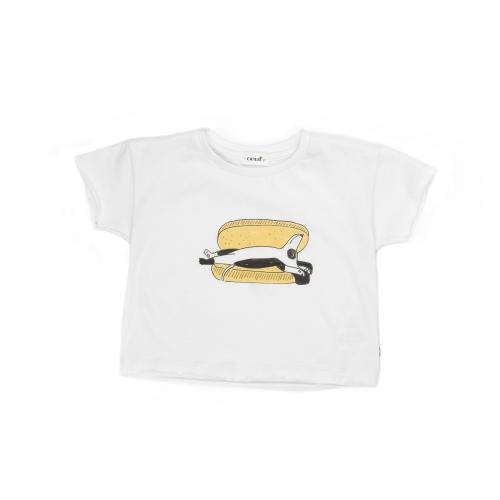 tee-shirt hot dog blanc et multicolore - oeuf nyc