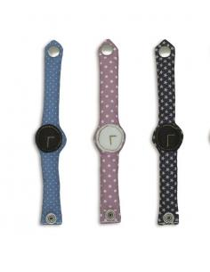 mini montre en tissus
