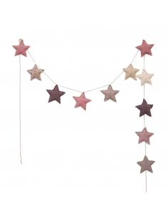 Guirlandes étoiles de coton, Mélange de roses