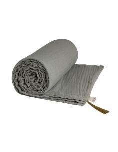 couverture legere gris argent 80x110 cm