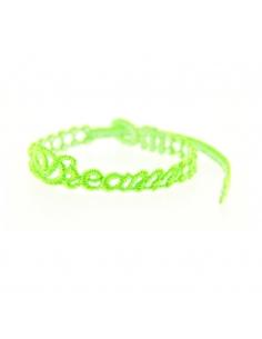 bracelet dream vert fluo - missiu