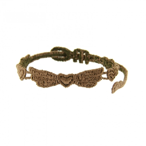 bracelet ailes chocolat - missiu