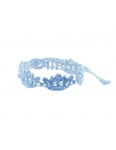 bracelet couronne bleu ciel - missiu