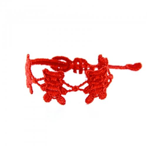 bracelet ourson rouge (moins de 5 ans) - missiu