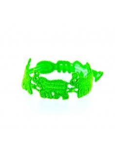 bracelet elephant vert fluo (moins de 5 ans) - missiu