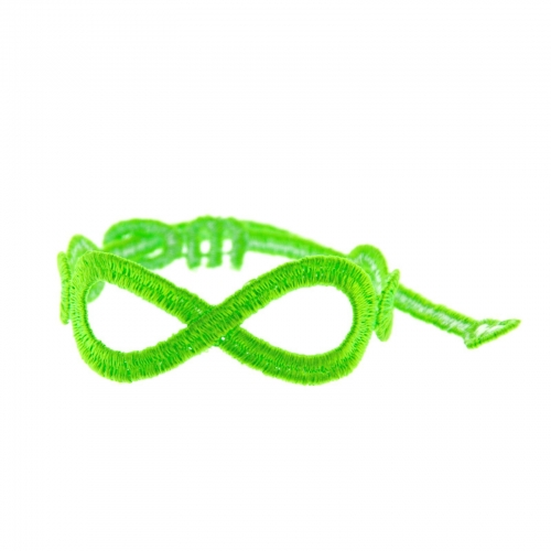 bracelet infinity vert fluo - missiu