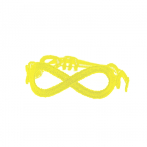 bracelet infinity jaune fluo - missiu