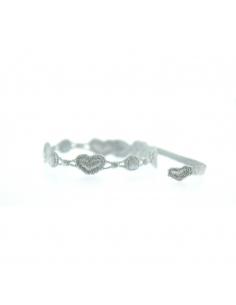 bracelet coeur gris argent - missiu