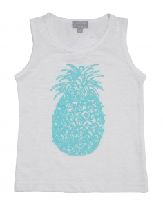 debardeur ananas azur