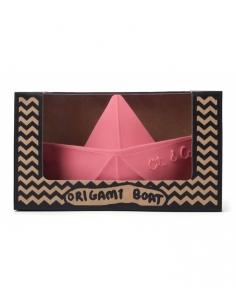 jeu de bain bateau origami - rose - oli et carol