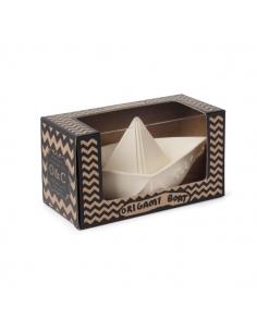 Jeu de bain bateau origami - blanc - oli et carol