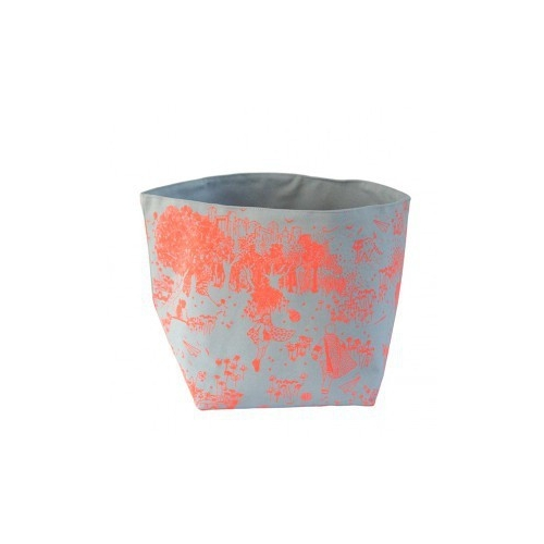 BAC DE RANGEMENT GRIS JOUY ORANGE LARGE
