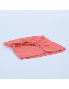 FITTED SHEET - CORAL - 70X160