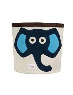 panier elephant bleu - 3 sprouts