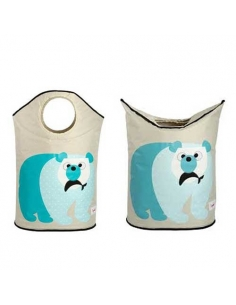 PANIER A LINGE OURS polaire - 3 Sprouts