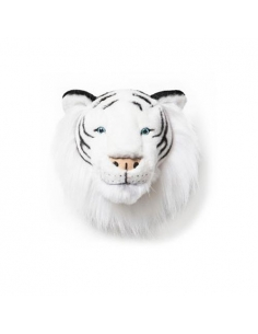 TROPHEE TIGRE BLANC DE FACE - ALBERT - WILD AND SOFT