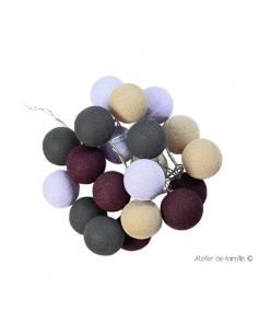guirlande lumineuse - prune grise et lin