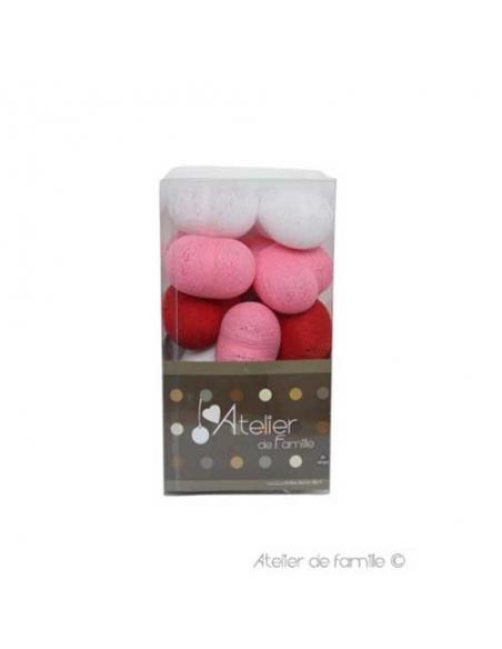 packaging guirlande lumineuse petits coeurs roses