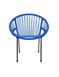 Chaise Tica Bleue de face