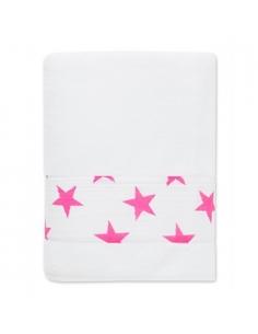 Serviette de bain - fluo pink