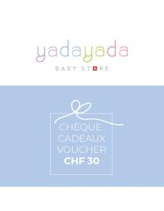 Cheque cadeaux CHF 30