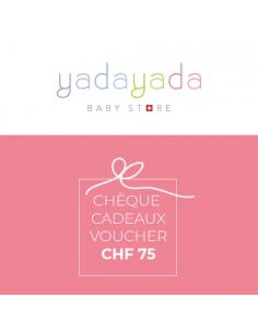 Cheque cadeaux CHF 75