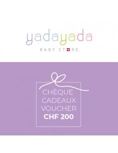 Cheque cadeaux CHF 200