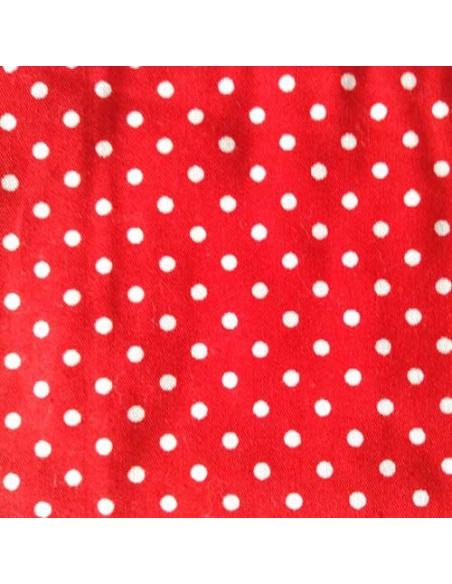 tissu rouge à poids blancs