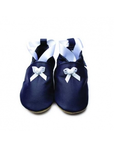 CHAUSSONS BEBE BALLET NAVY