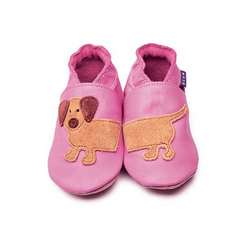 CHAUSSONS BEBE DASH ROSE