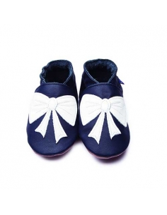 BOW NAVY SLIPPERS BABY