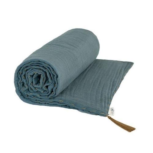 Couverture légère, gris bleu