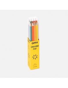 16 crayons de couleurs pop