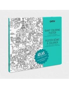 Poster a colorier - Atlas